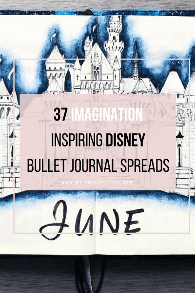 disney inspired bullet journal spreads