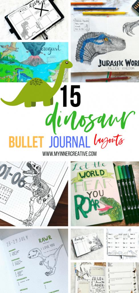 dinosaur inspired bullet journal layout (6)