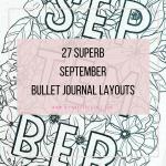 september bullet journal layout