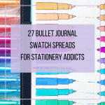 stationery swatch bullet journal layout