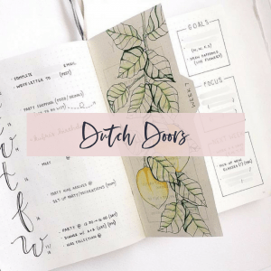 Dutch Door Bullet journal Spread
