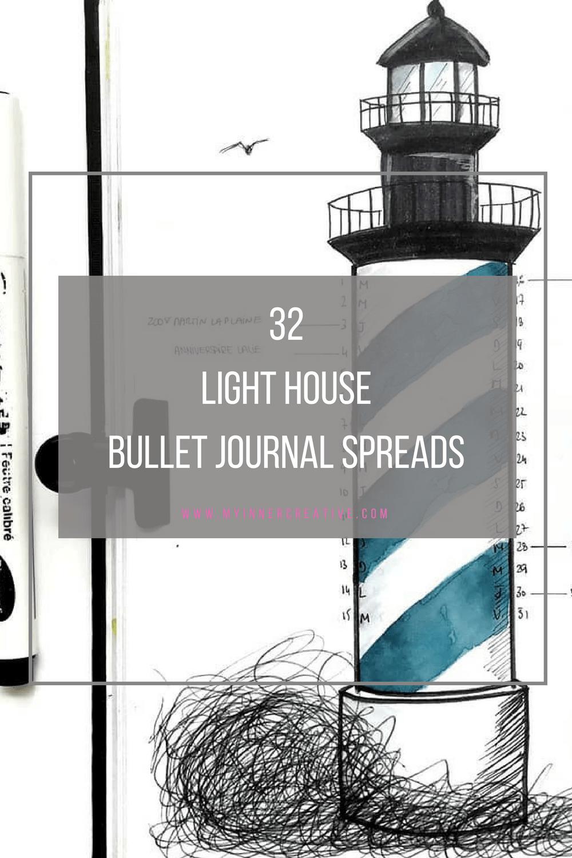 light house bullet journal spread layout