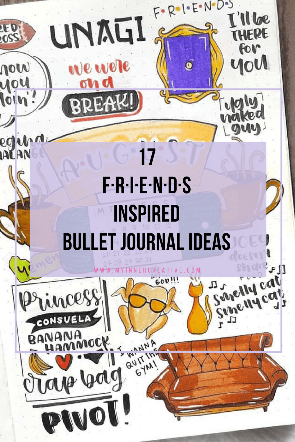 friends tv show inspired bujo