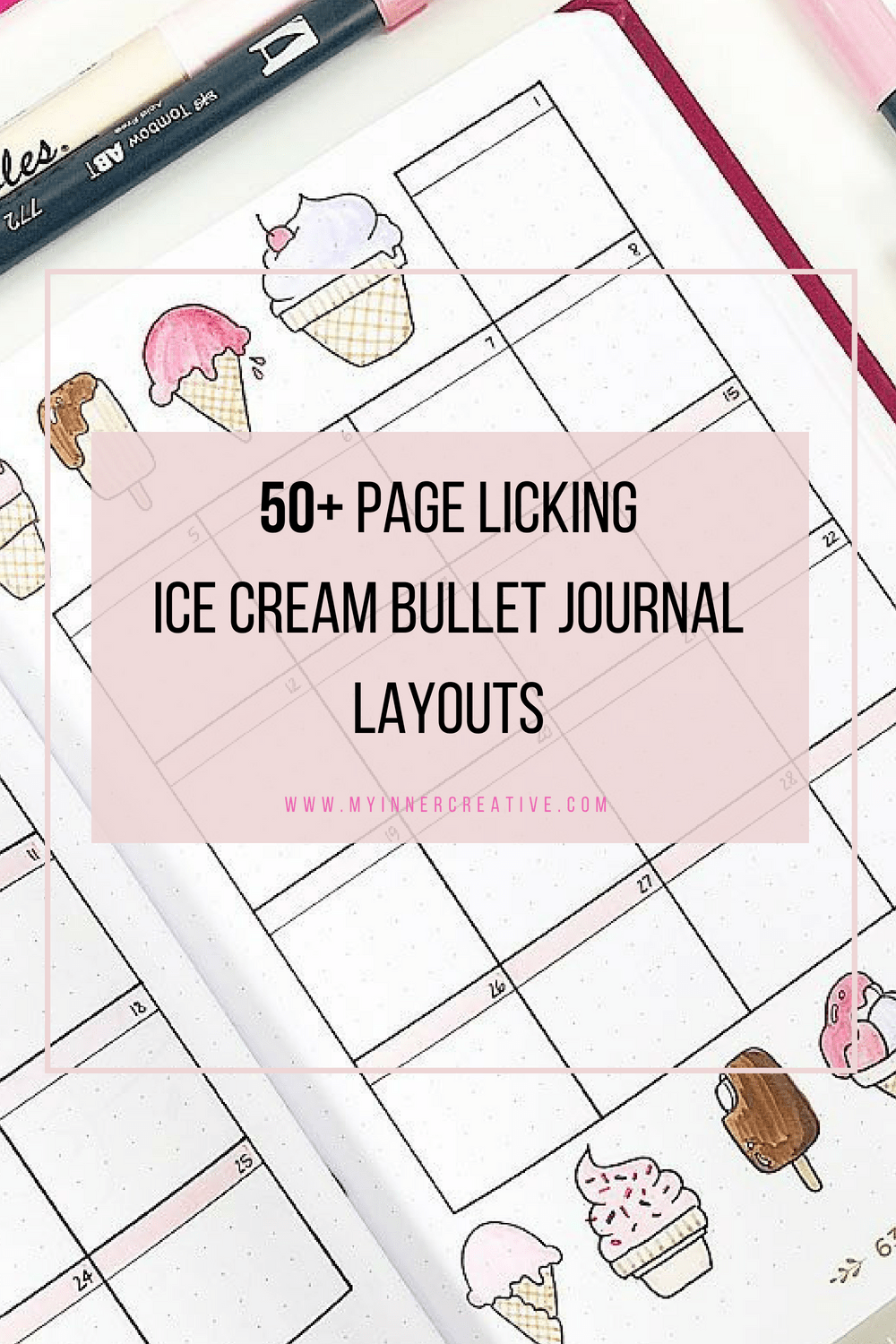 ice cream bullet journal layout
