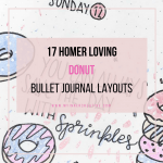 donut bullet journal spread layout