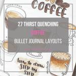 coffee bullet journal layout idea
