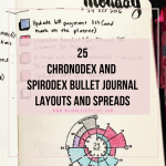 chronodex and spirodex bullet journal