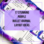 purple bullet journal layouts