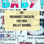 pregnancy trackers for bujo