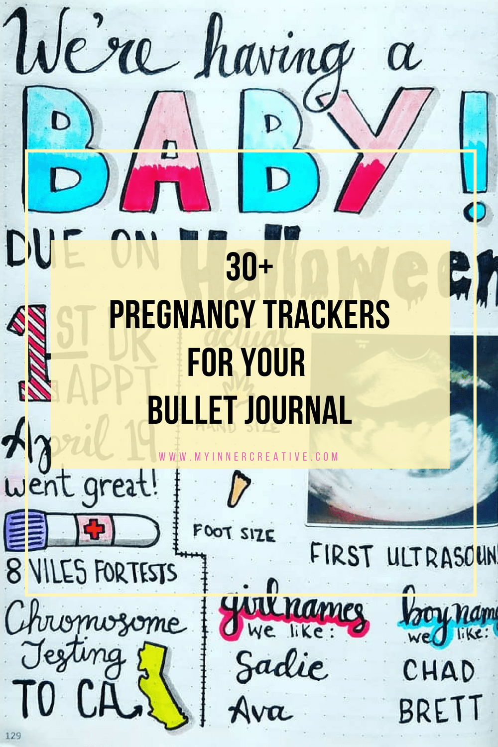 pregnancy trackers for bujo