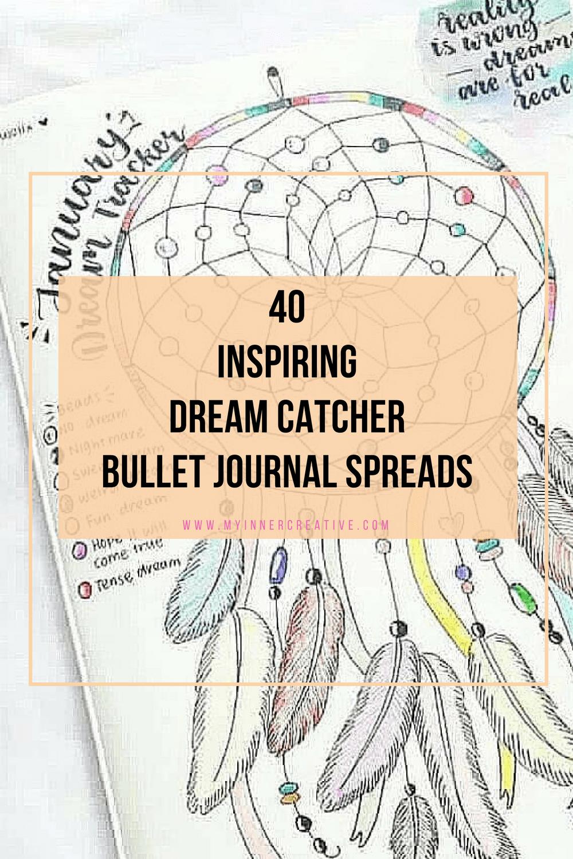 dream catcher bullet journal spreads