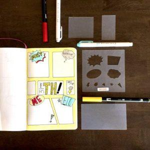 comic book bullet journal