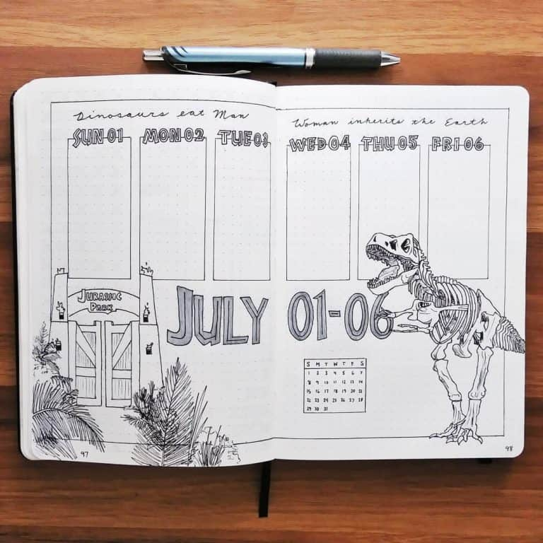 dinosaur spreads and layouts