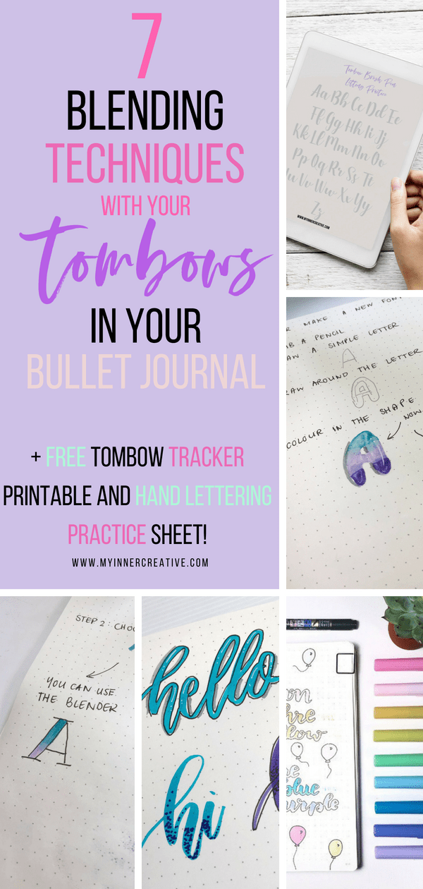 blend your tombow markers in your bullet journal
