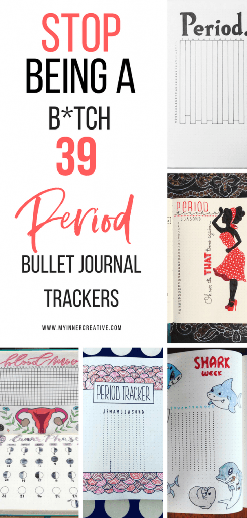period tracker bullet journal layout