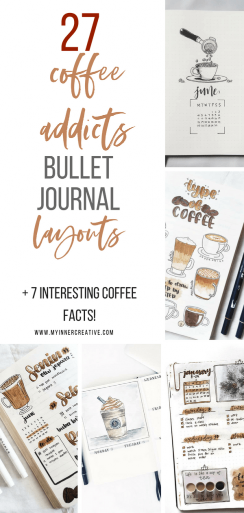 coffee bullet journal layout idea