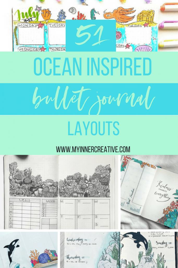 ocean inspired bullet journal layout (2)