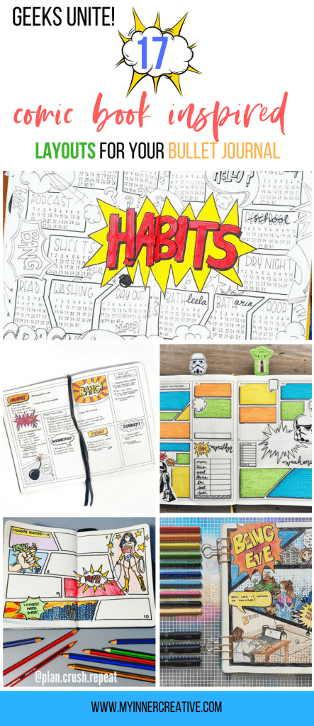 comic book bullet journal layout