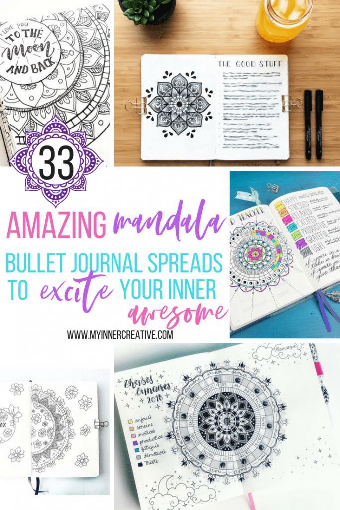 mandala bullet journal layouts