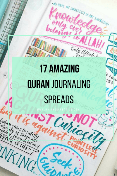 17 awesome Quran Journaling spreads