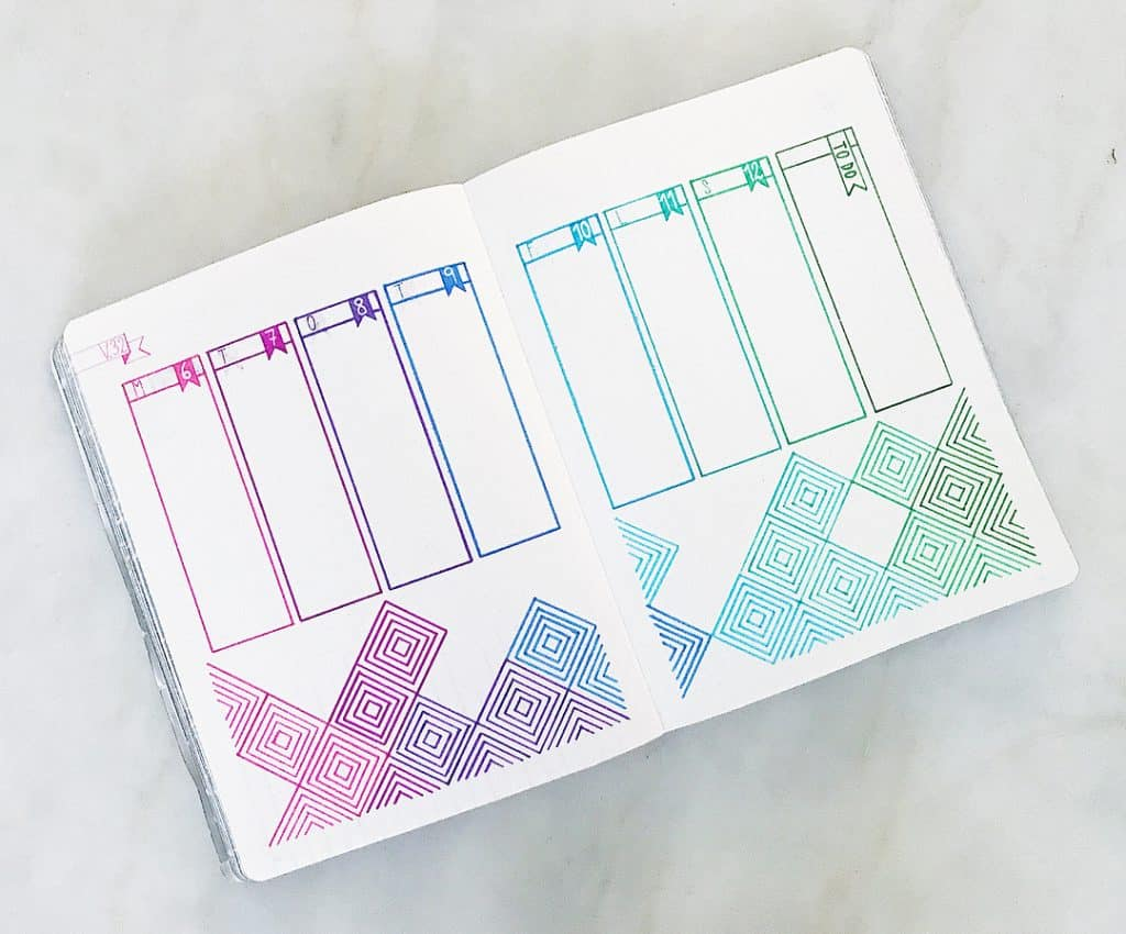 patel bullet journal layout