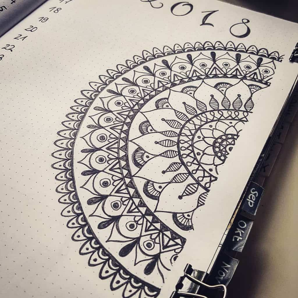 100 Mandala Bullet Journal Layours To Release Your Inner Awesome