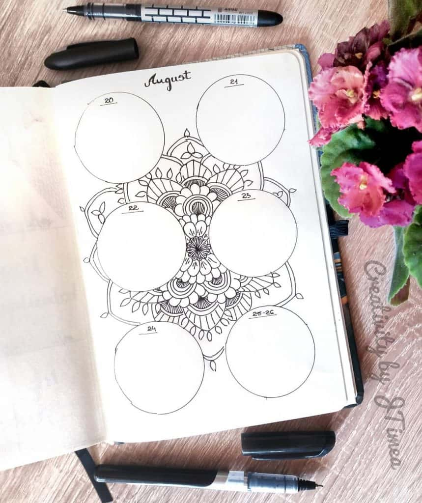 Mandala bullet journal ideas