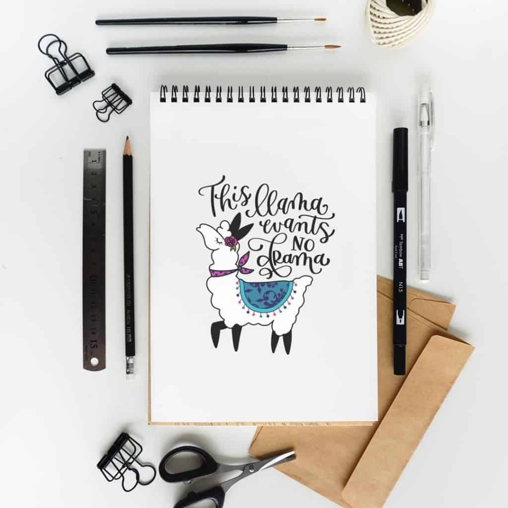 Llama inspired bullet journal ideas