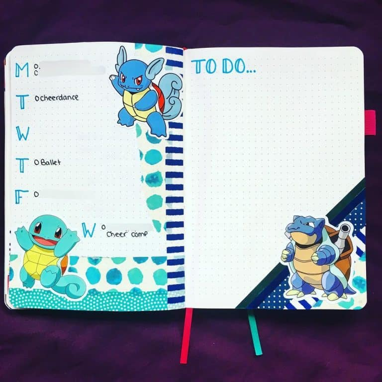 Pokemon Bullet Journal Layout