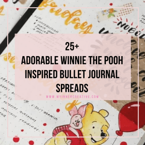 25+ Tiggerific Winnie the Pooh inspired Bullet journal spreads