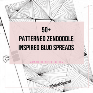 50+ Zendoodle Patterned bullet journal themes