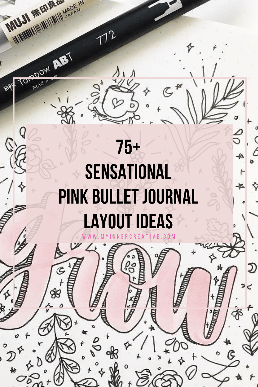 70+ Pink bullet journal layout ideas