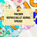 pokemon inspired bujo spreads