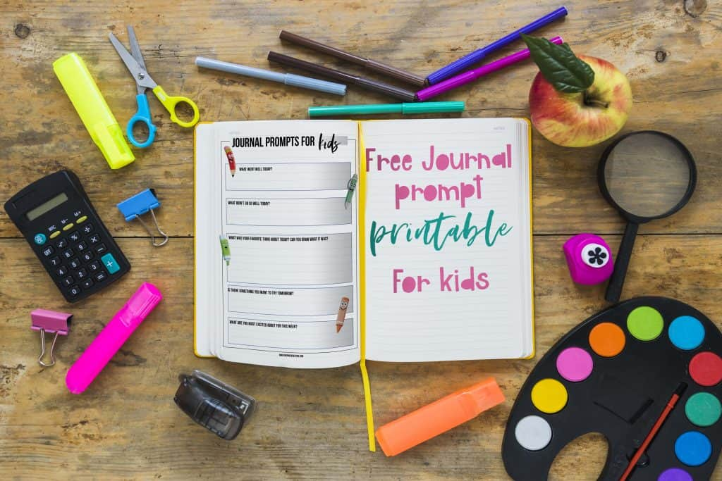 kids bullet journaling prompt