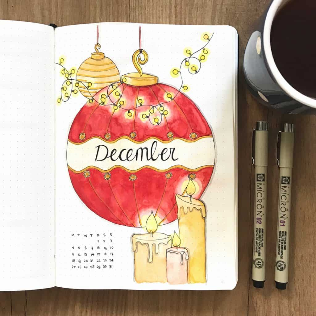 Christmas themed bullet journal ideas