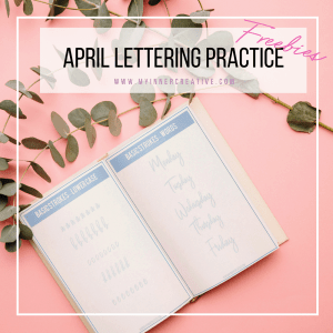 April Hand Lettering Practise