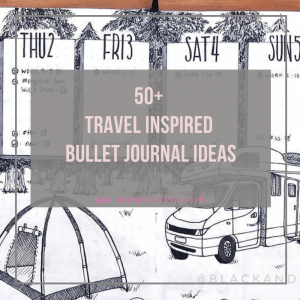 Travel Inspired bullet journal layout
