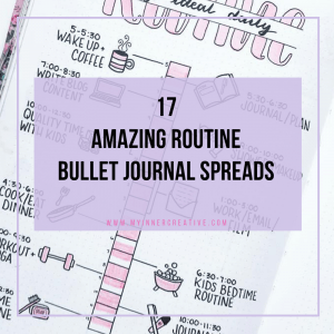 17 Routine spreads in your bullet journal to bring you more structure!