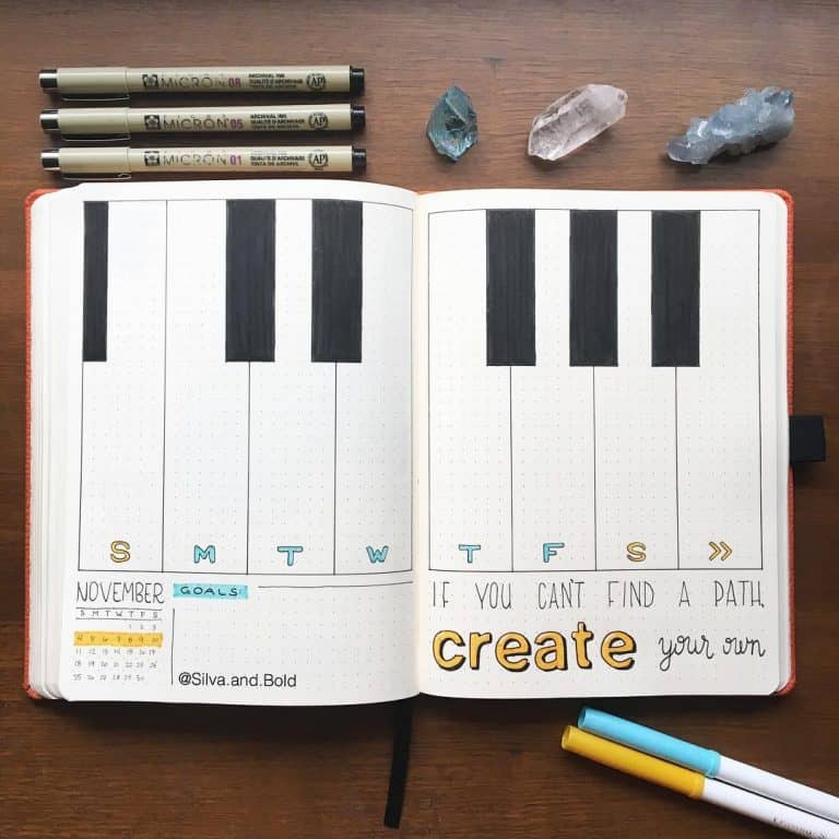 Music Themed Bujo