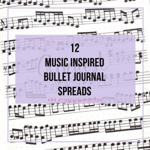 12 Music Themed Bullet Journal Spreads
