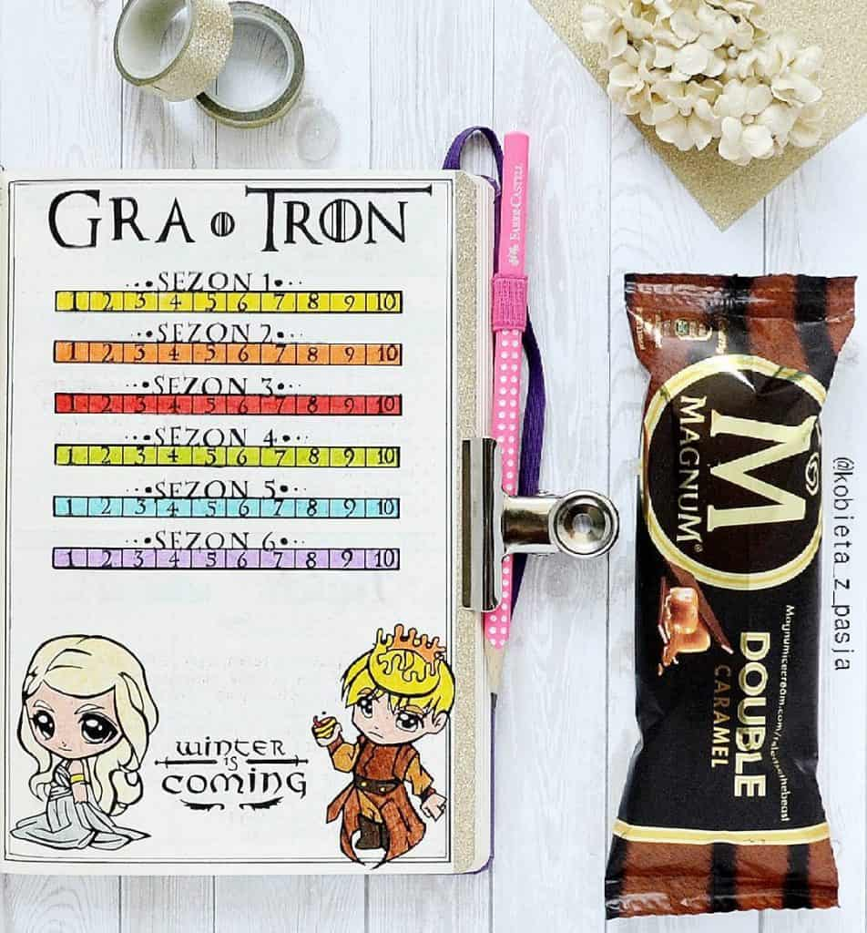 Game of thrones themed bullet journal
