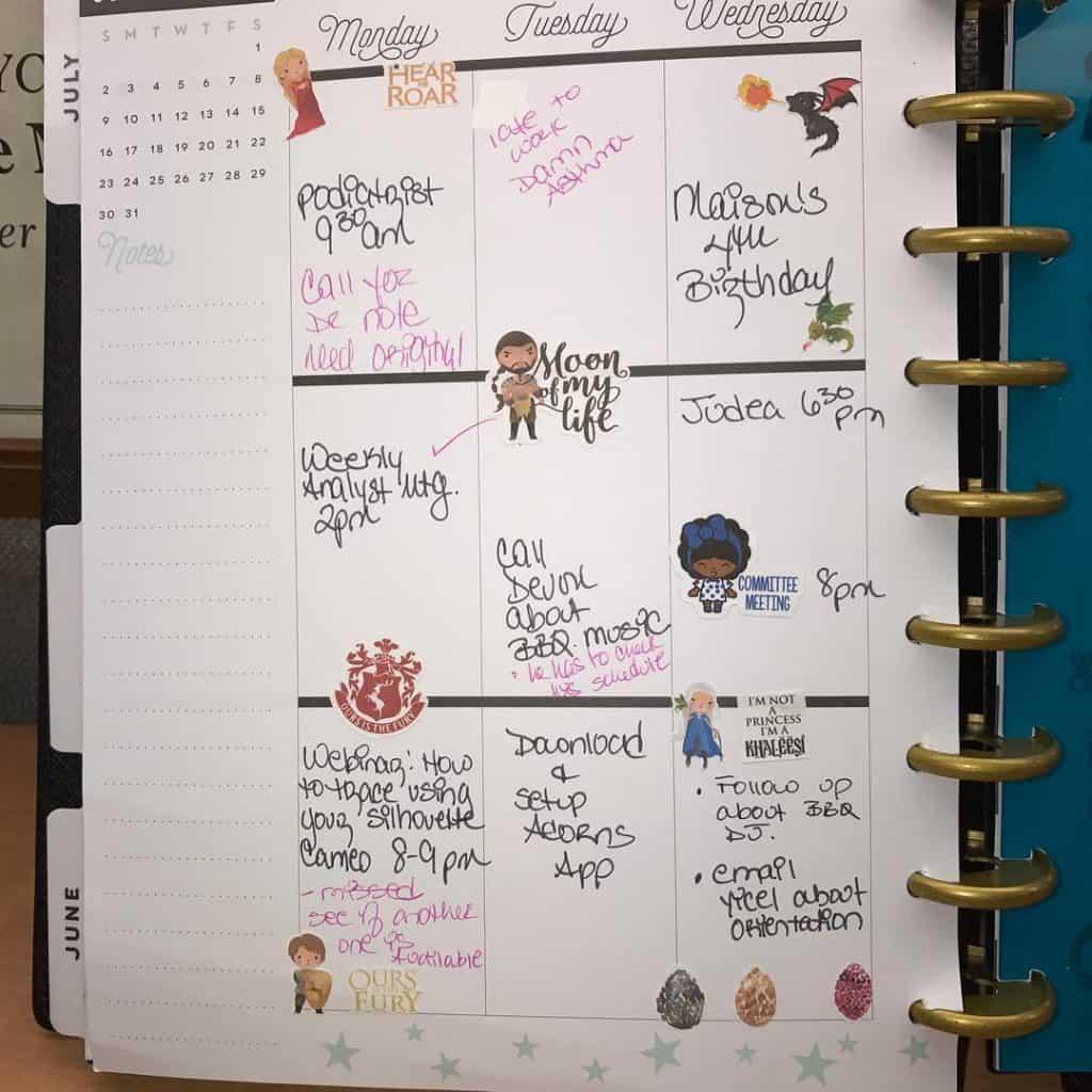 Game of thrones themed bullet journal