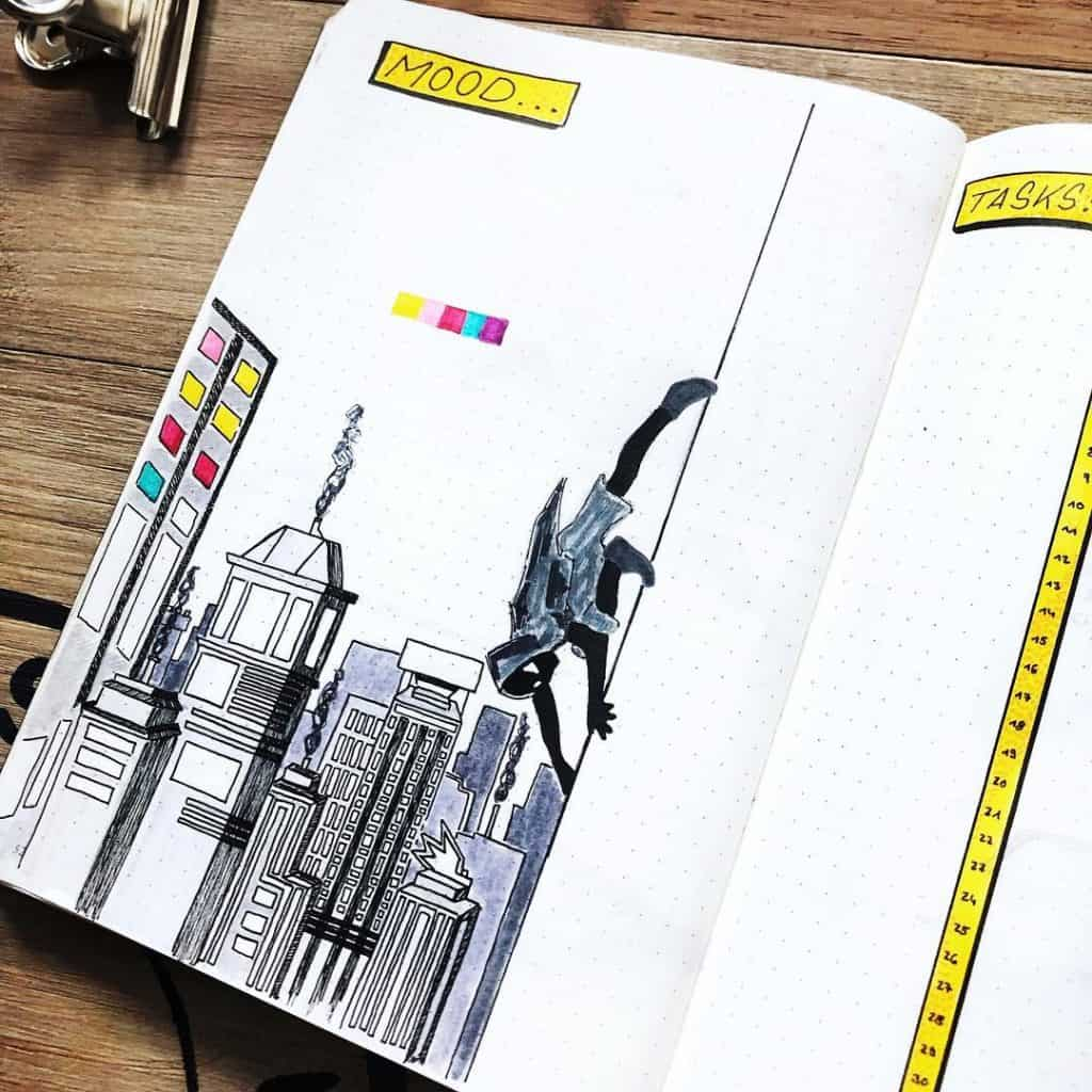 Superhero's themed bullet journal