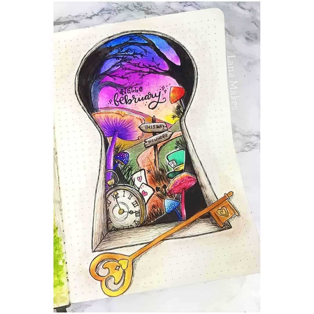 49 Magical Alice In Wonderland Bullet Journal Themes My Inner Creative