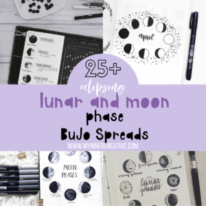 25+ Stellar Moon Phase Spreads for your bullet journal