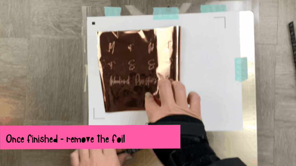 how to foil stickers with foil quill and cameo