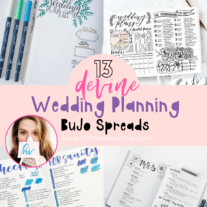 Wedding planning in your bullet journal + 3 vital things you can't forget before your big day!