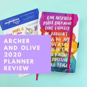 REVIEW: Archer and Olive / Amy Tangerine 2020 Planner