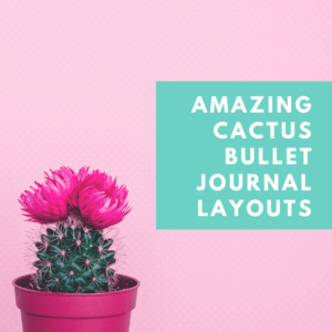 100+ Incredible Cactus Bullet Journal Layouts