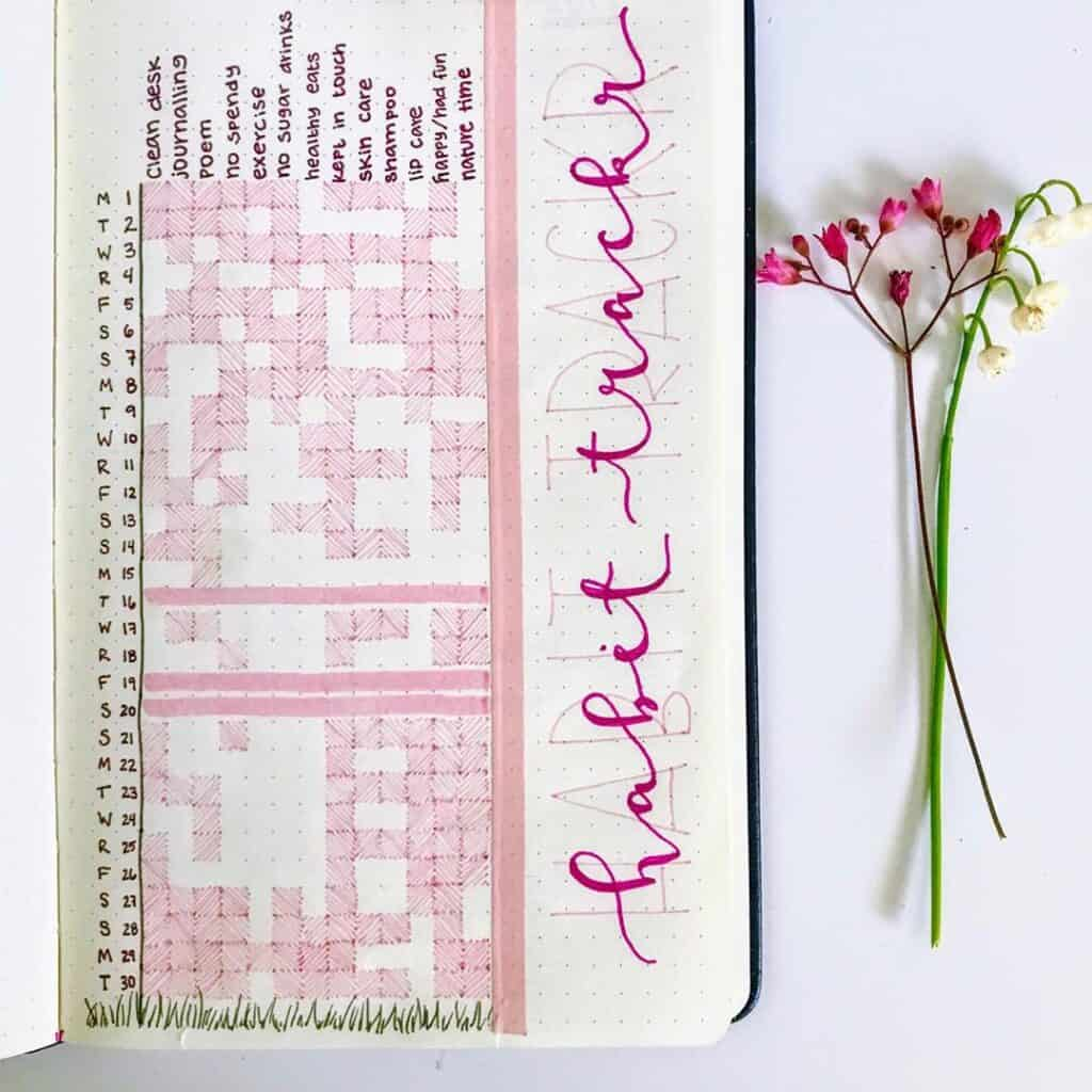 valentines day bullet journal theme